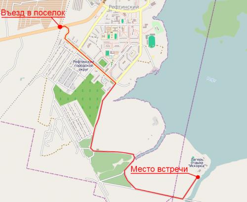 Карта проезда до субботника