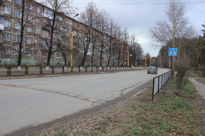 Заборчик на пешеходном переходе