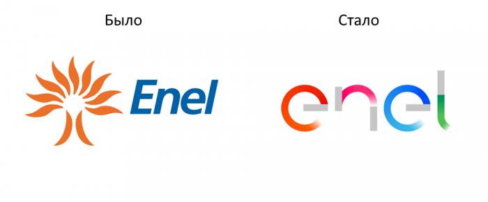 Новый логотип Enel